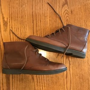 Rockport Brown Leather Ankle Boots